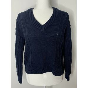 NWT MADEWELL Augustus Knitted V Neck Sweater XXS
